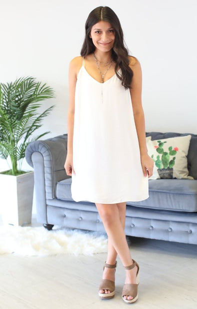 St. Petersburg Dress: White - ShopSpoiled