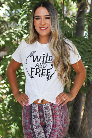 Wild And Free Tee - ShopSpoiled