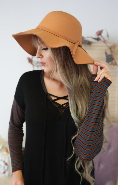 Boho Babe Floppy Hat: Camel - ShopSpoiled