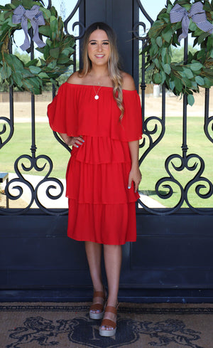 Goals For Sure Dress: Red - ShopSpoiled