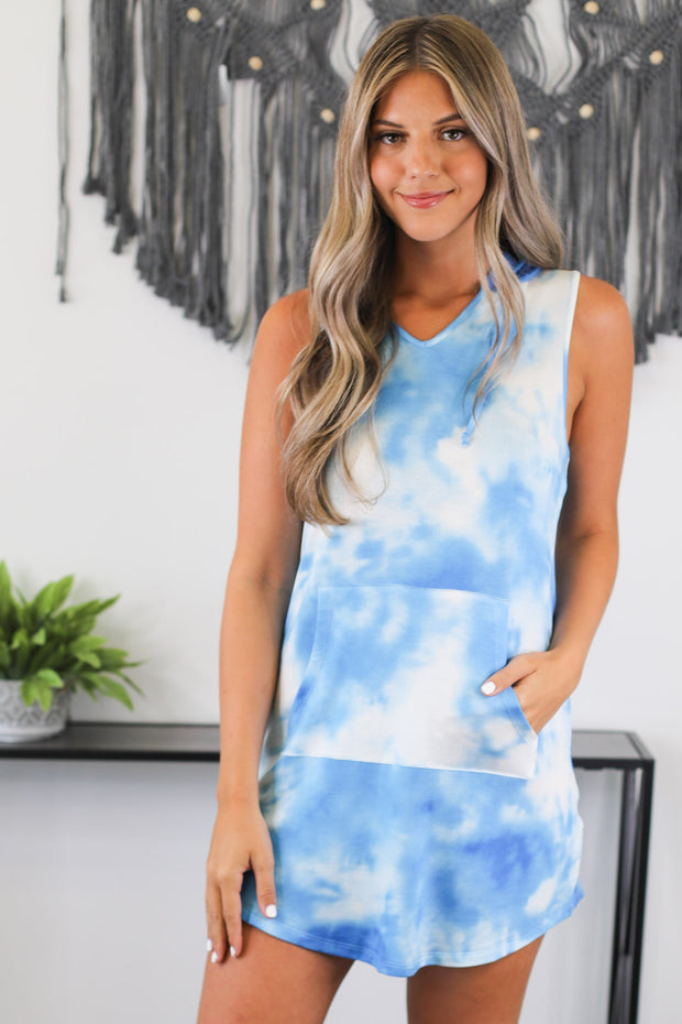 Tell Your Tale Dress: Blue - Shop Spoiled Boutique
