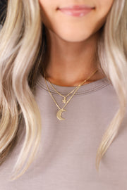 Moon To My Star Necklace: Gold - ShopSpoiled