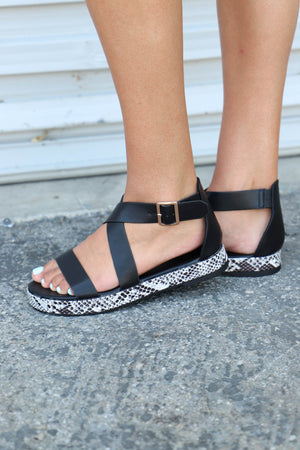 Idolize Platform: Snake/Black - ShopSpoiled
