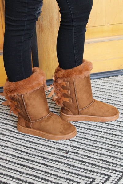 Baby It's Cold Boots: Camel - ShopSpoiled