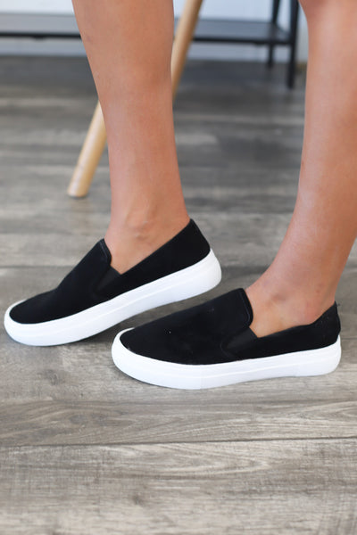 Coco Slip On Sneakers: Black - ShopSpoiled