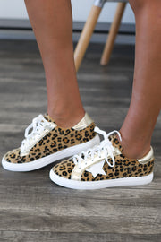 Dallas Sneakers: Leopard - ShopSpoiled