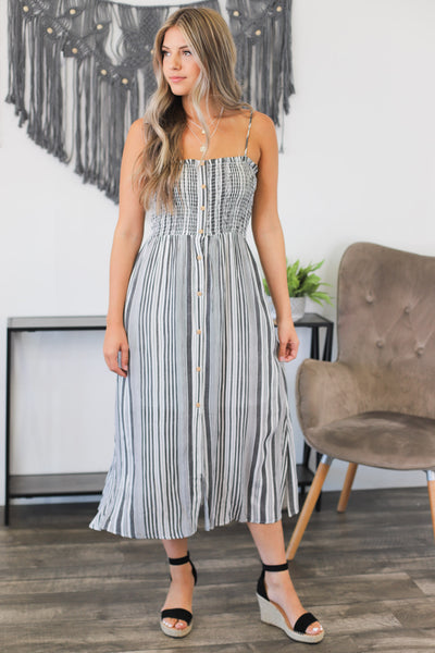 Sweeter In Stripes Dress - Shop Spoiled Boutique