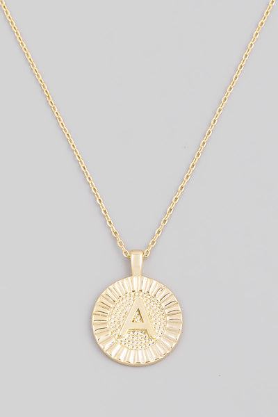 Initial Coin Necklace A-Z - ShopSpoiled
