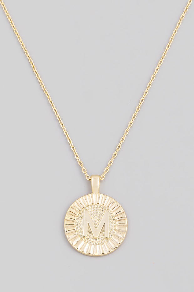 Initial Coin Necklace - Shop Spoiled Boutique