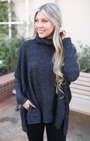 Kendall Sweater: Grey - ShopSpoiled