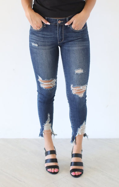 Molly Destroyed Crop Skinny - ShopSpoiled