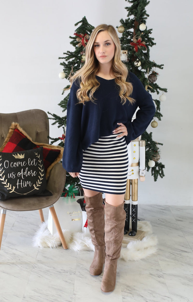 Oh, Honey Skirt: Navy - ShopSpoiled