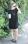On The Rise Dress: Black - ShopSpoiled