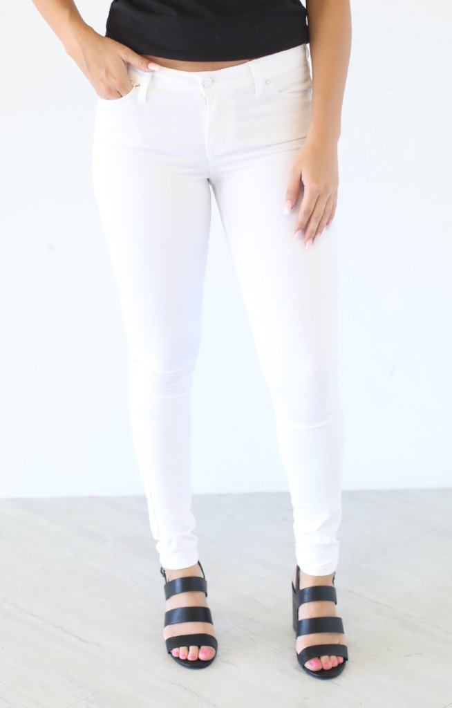 Optic White Skinny Jean - ShopSpoiled