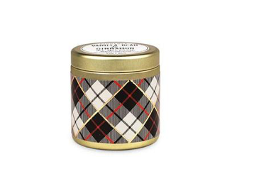 Tartan 3oz Gold Tin Vanilla Bean & Cinnamon Candle - ShopSpoiled
