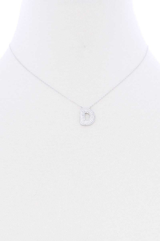 Rhinestone Initial Necklace - Shop Spoiled Boutique