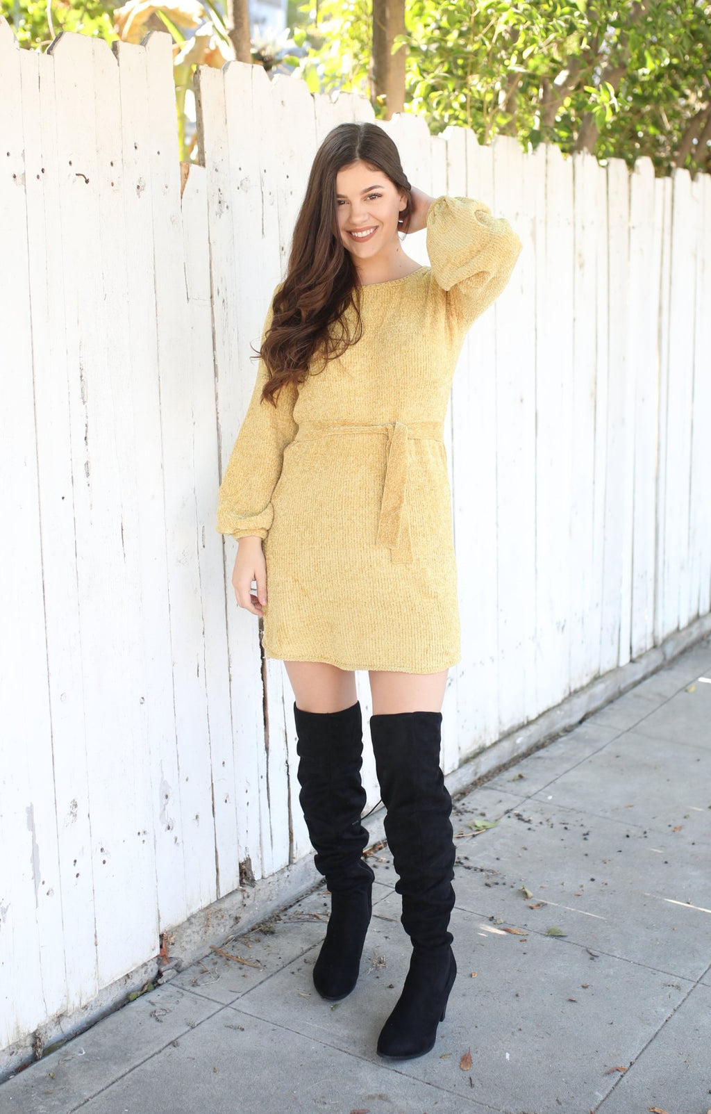Peace On Earth Sweater: Mustard - ShopSpoiled