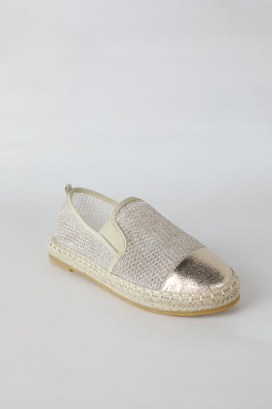 Rich Slip Ons: Gold - ShopSpoiled