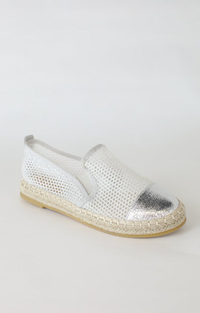 Rich Slip Ons: Silver - ShopSpoiled