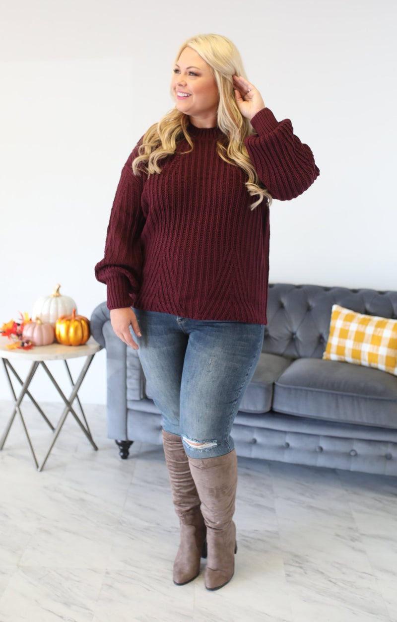 Ripened Sweater: Grape - ShopSpoiled