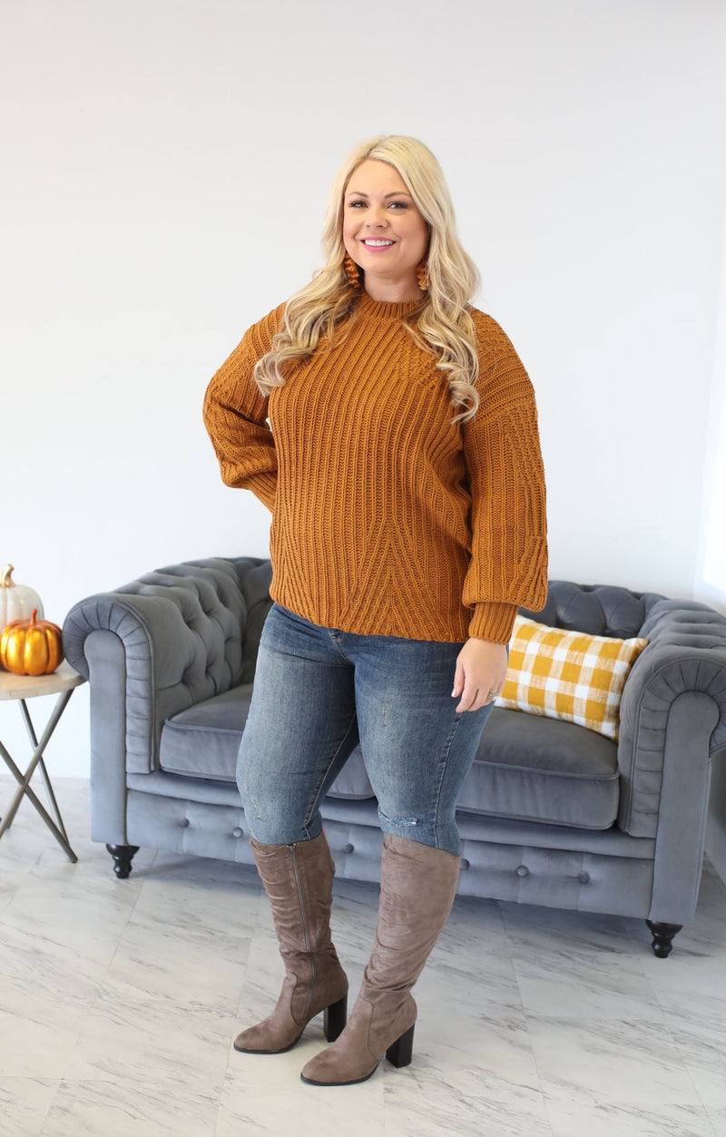 Ripened Sweater: Mustard - ShopSpoiled