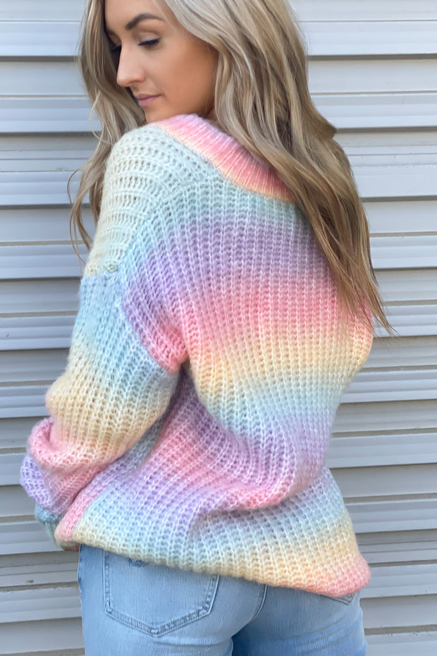Sherbet Swirl Tie Dye Sweater - Shop Spoiled Boutique
