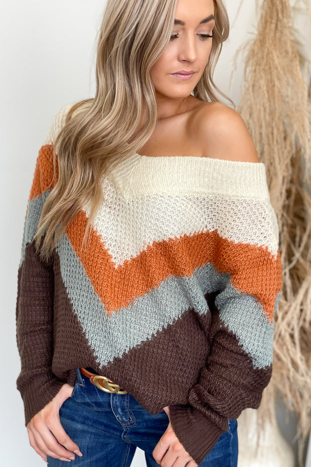 Autumn Daze Sweater: Chocolate - Shop Spoiled Boutique