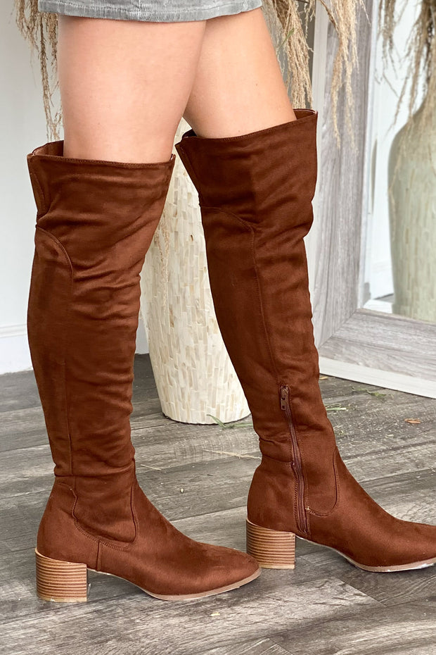 Catherine Boots: Brown - ShopSpoiled