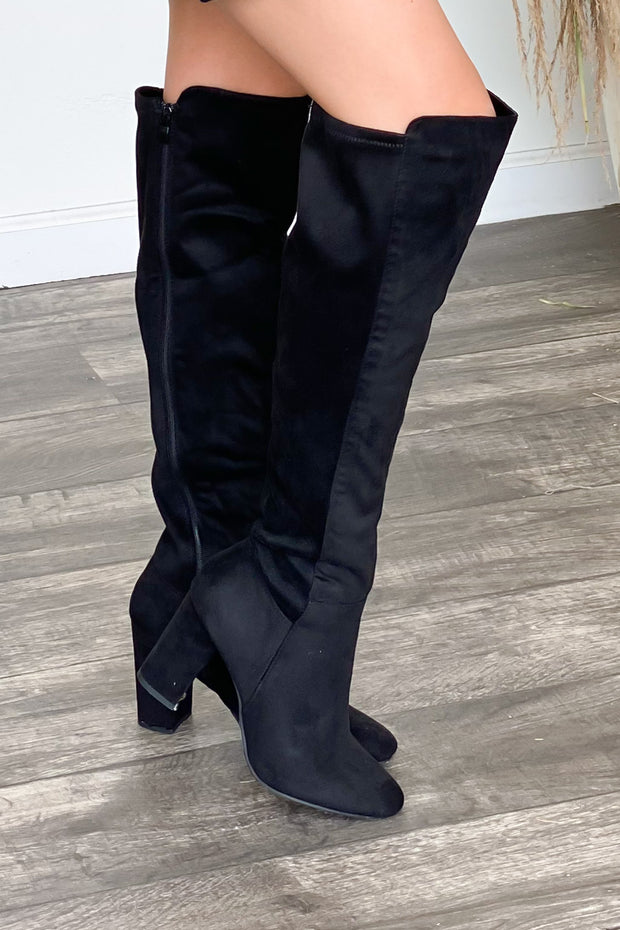 Whiskey Girl Boots: Black - ShopSpoiled