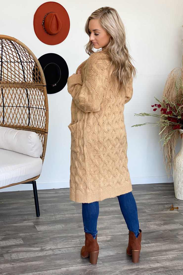 She's Got Style Cardigan: Honey - ShopSpoiled