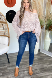 The Snuggle is Real Sweater: Nude - ShopSpoiled