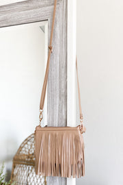 Set The Trend Purse: Taupe - ShopSpoiled