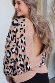 Wild Thing Knitted Sweater: Taupe - Shop Spoiled Boutique