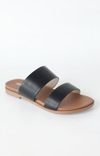 Sapid Dual Band Sandal: Black - ShopSpoiled
