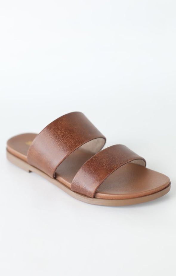 Sapid Dual Band Sandal: Dark Tan - ShopSpoiled