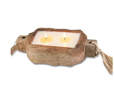 Driftwood Candle Tray: Sunlight in the Forest - ShopSpoiled