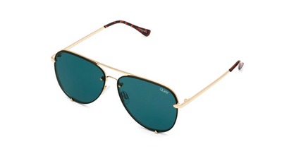 Quay : High Key Mini Rimless -Teal - ShopSpoiled