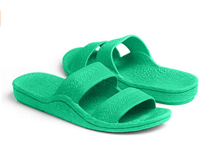 Pali Hawaii Sandals: Green - ShopSpoiled