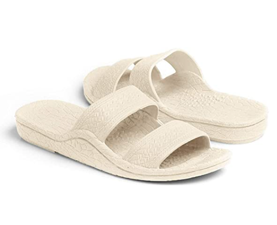 Pali Hawaii Sandals: White - ShopSpoiled