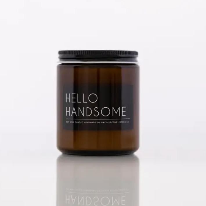 Hello Handsome 8oz Candle - ShopSpoiled