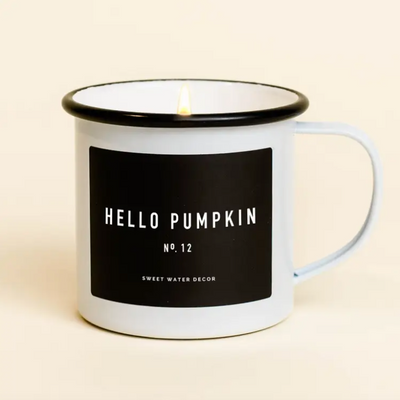 Hello Pumpkin Mug Candle - ShopSpoiled