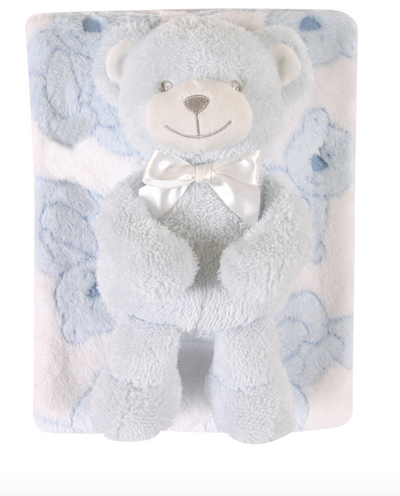 Baby Gift Set: Blue Bear - ShopSpoiled