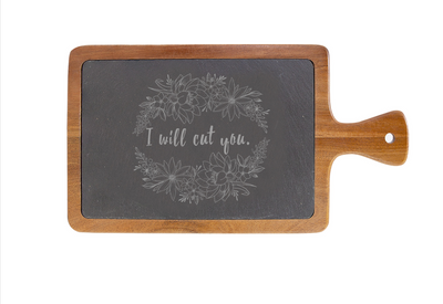 I Will Cut You Charcuterie Board - ShopSpoiled