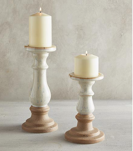 Ceramic Candlestick: Small - ShopSpoiled