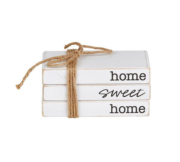 Home Sweet Home Stacked Book Blocks - ShopSpoiled