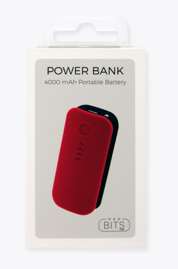 Red Soft Touch Power Bank - ShopSpoiled