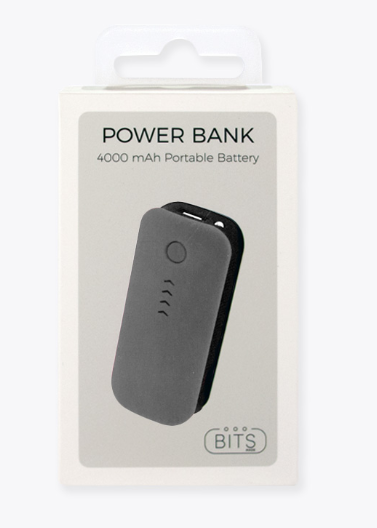 Charcoal Soft Touch Power Bank - ShopSpoiled