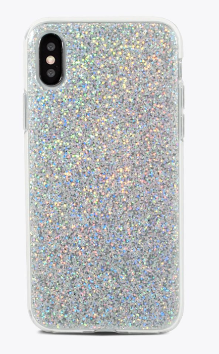 Silver Glitter Iphone X - ShopSpoiled