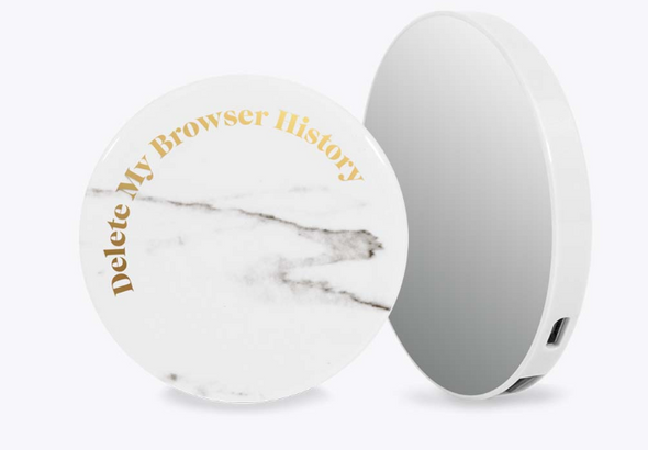 Delete My Browser History Portable Charger w/ Mirror - ShopSpoiled