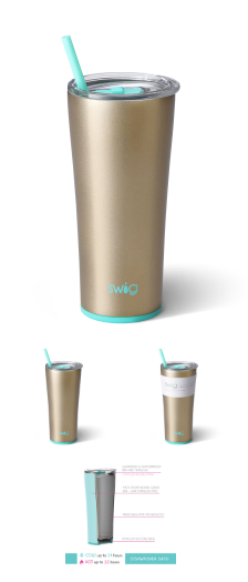 SWIG 22oz Stainless Steel Tumbler: Champagne - ShopSpoiled